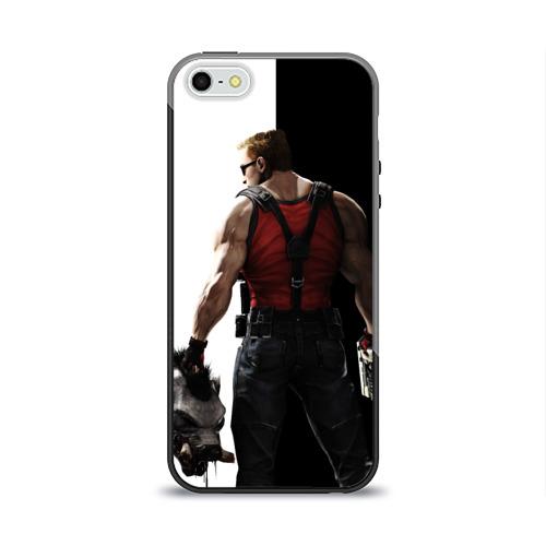 Чехол силиконовый глянцевый для Телефон Apple iPhone 5/5S Duke Nukem от Всемайки