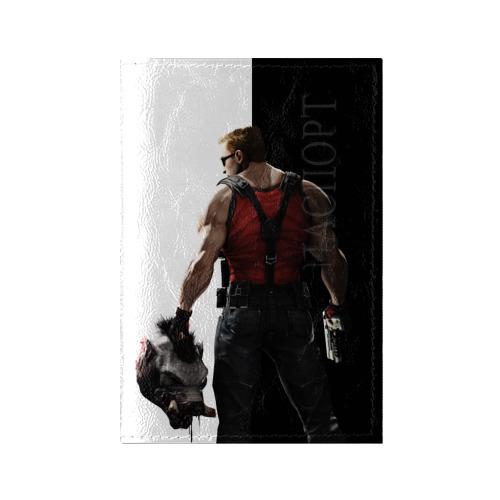 Обложка для паспорта глянцевая кожа Duke Nukem от Всемайки