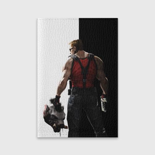 Обложка для паспорта матовая кожа Duke Nukem от Всемайки