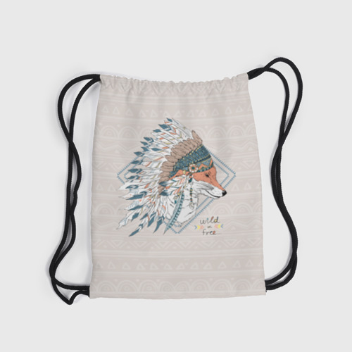 Рюкзак-мешок 3D Лиса в перьях Фото 01