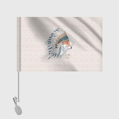 Флаг для автомобиля Лиса в перьях Фото 01