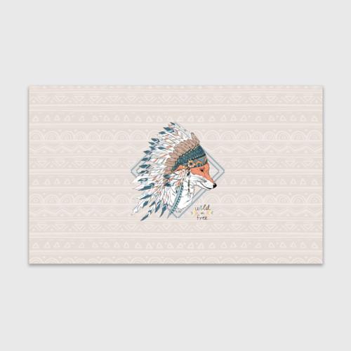 Бумага для упаковки 3D Лиса в перьях Фото 01