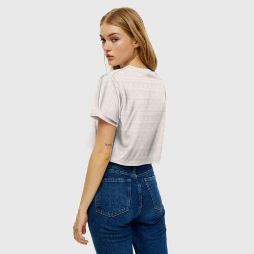 Женская футболка Crop-top 3D Лиса в перьях Фото 01
