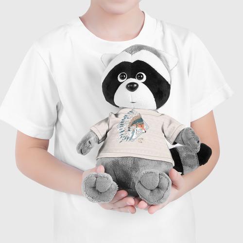 Енотик в футболке 3D Лиса в перьях Фото 01