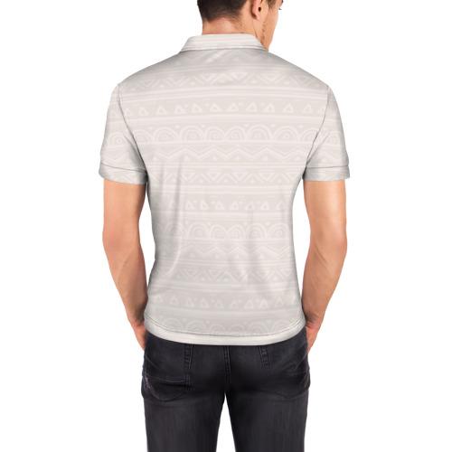 Мужская рубашка поло 3D  Фото 04, Лиса в перьях