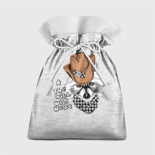 Подарочный 3D мешок Енот ковбой