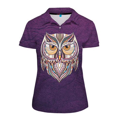 Женская рубашка поло 3D  Фото 01, Совушка