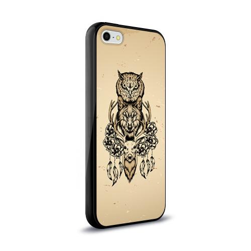 Чехол для Apple iPhone 5/5S силиконовый глянцевый  Фото 02, Животные