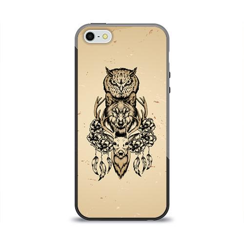 Чехол для Apple iPhone 5/5S силиконовый глянцевый  Фото 01, Животные