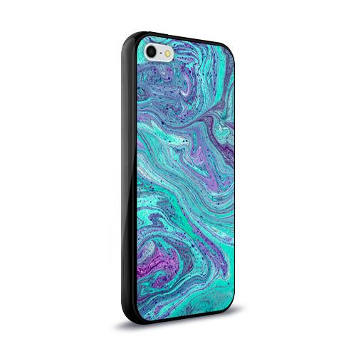 Чехол для Apple iPhone 5/5S силиконовый глянцевый Смесь красок Фото 01