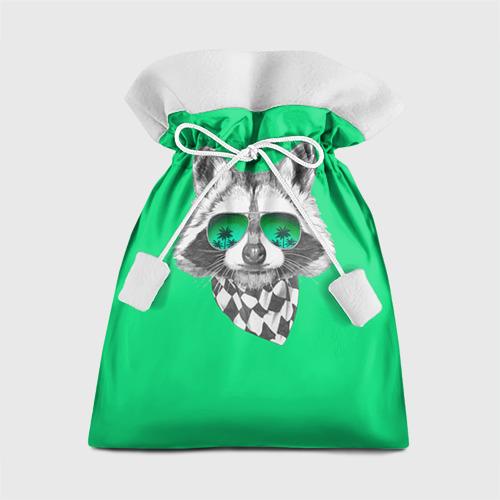 Подарочный 3D мешок Енот в очках от Всемайки