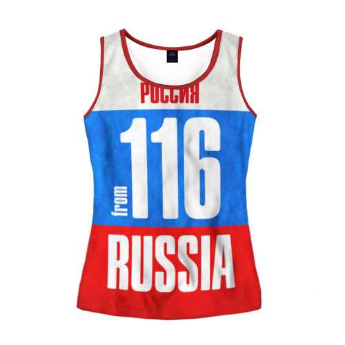 Женская майка 3D Russia (from 116)