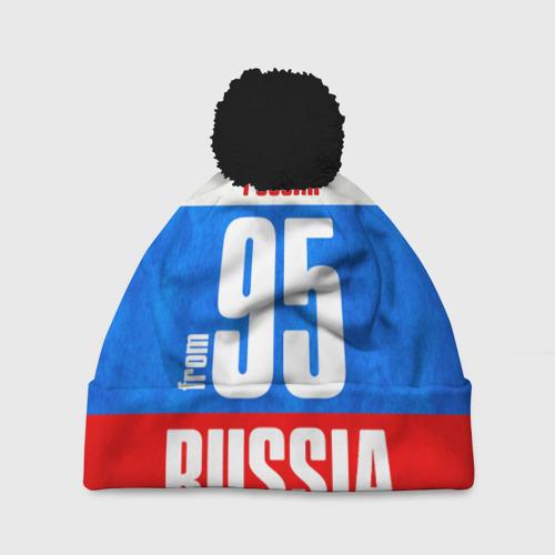 Шапка 3D c помпоном Russia (from 95)