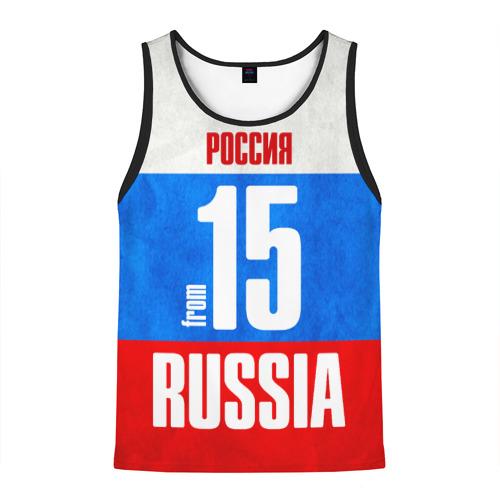 Мужская майка 3D Russia (from 15)