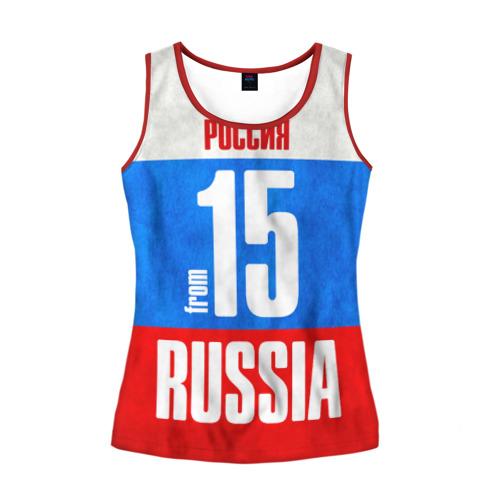 Женская майка 3D Russia (from 15)