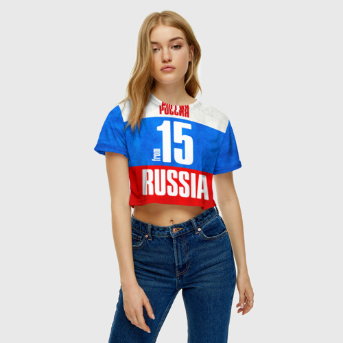 Женская футболка 3D укороченная  Фото 04, Russia (from 15)