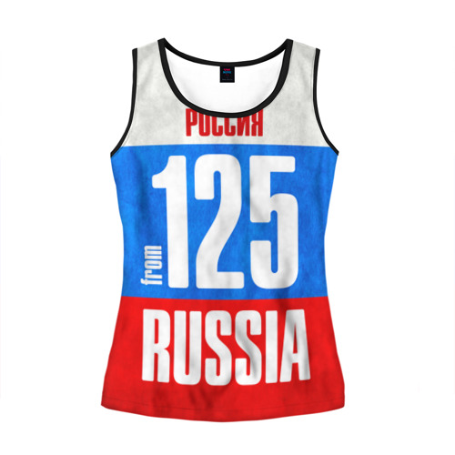 Женская майка 3D Russia (from 125)