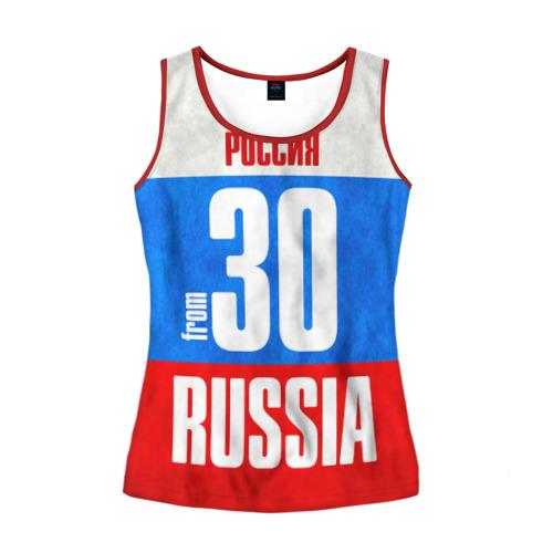 Женская майка 3D Russia (from 30)