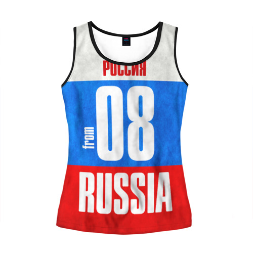 Женская майка 3D Russia (from 08)