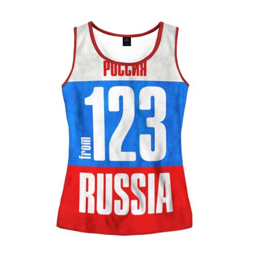 Женская майка 3D Russia (from 123)