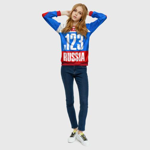 Женский свитшот 3D Russia (from 123)