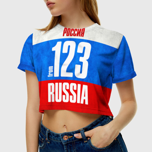 Женская футболка 3D укороченная  Фото 01, Russia (from 123)