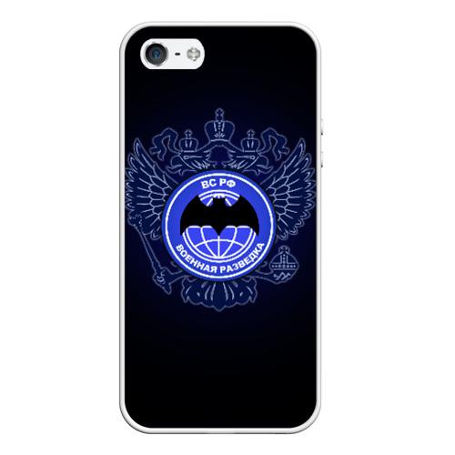 Чехол для Apple iPhone 5/5S силиконовый Военная разведка от Всемайки