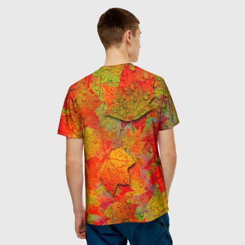 Мужская футболка 3D  Фото 02, Лист клёна