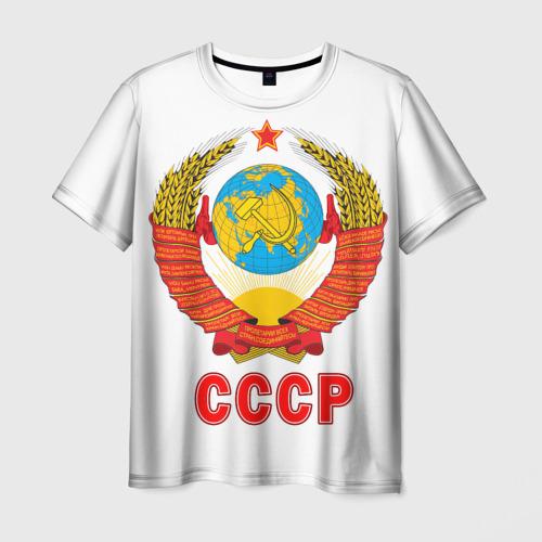 Мужская футболка 3D 'Герб СССР'