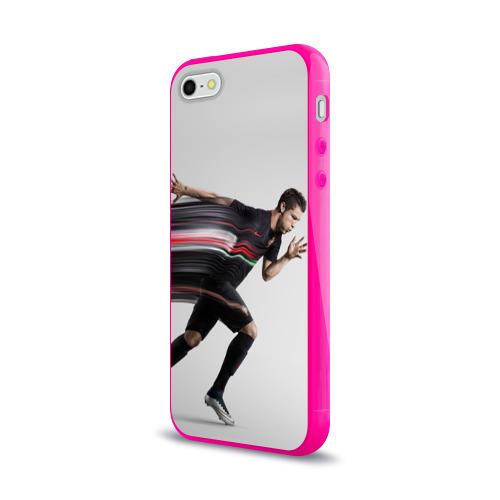 Чехол для Apple iPhone 5/5S силиконовый глянцевый Cristiano Ronaldo Фото 01