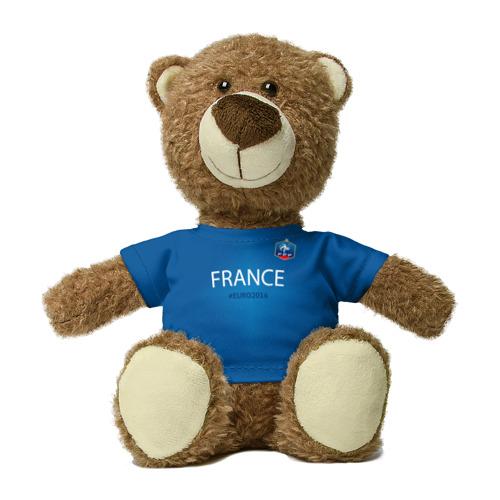 Миша в футболке 3D Сборная Франции 2016