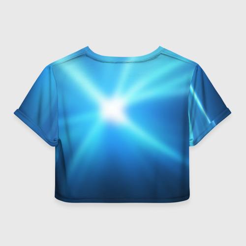 Женская футболка 3D укороченная  Фото 02, Smack down