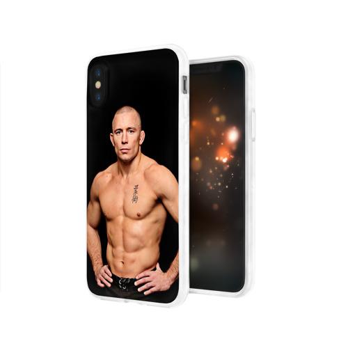 Чехол для Apple iPhone X силиконовый глянцевый  Фото 03, Джордж Сен-Пьер