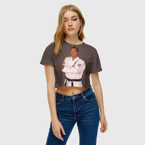 Женская футболка 3D укороченная  Фото 04, Грейси Ройс
