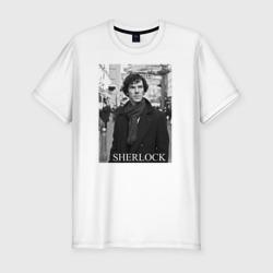 Мужская футболка премиумSHERLOCK 2