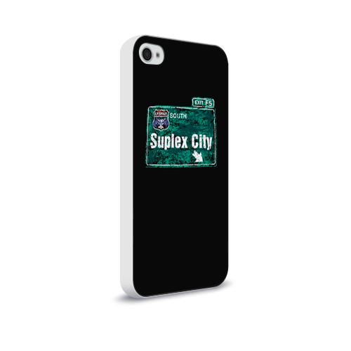 Чехол для Apple iPhone 4/4S soft-touch  Фото 02, Suplex city