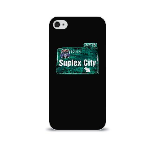Чехол для Apple iPhone 4/4S soft-touch  Фото 01, Suplex city