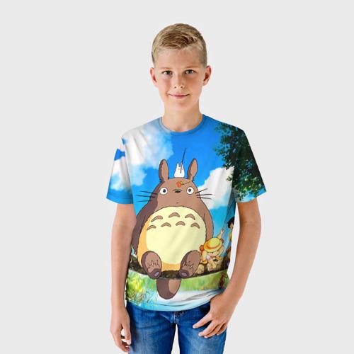 Детская футболка 3D Тоторо и компания