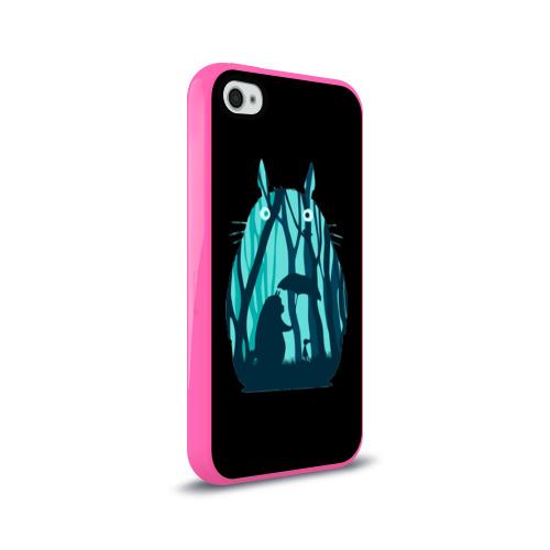 Чехол для Apple iPhone 4/4S силиконовый глянцевый Тоторо в лесу Фото 01
