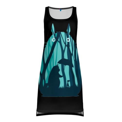 Платье-майка 3D Тоторо в лесу