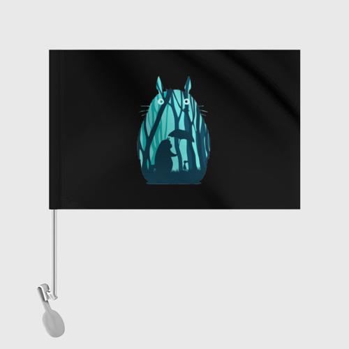 Флаг для автомобиля Тоторо в лесу Фото 01