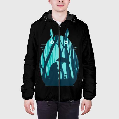 Мужская куртка 3D Тоторо в лесу Фото 01