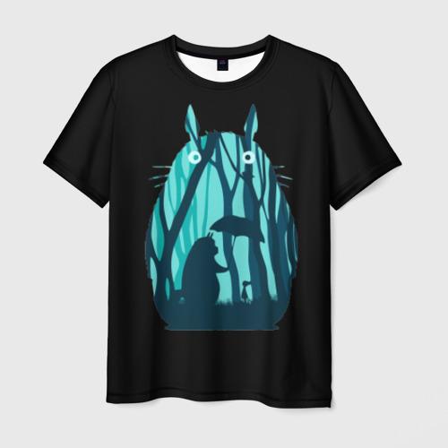 Мужская футболка 3D Тоторо в лесу