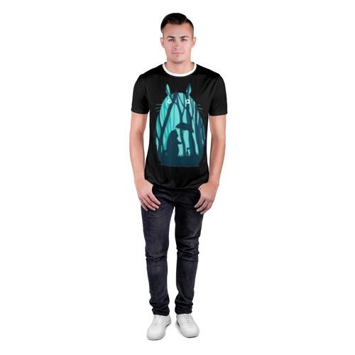 Мужская футболка 3D спортивная Тоторо в лесу Фото 01