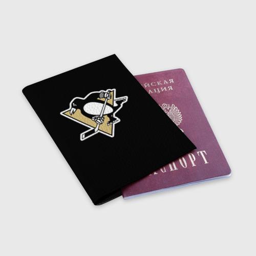 Обложка для паспорта матовая кожа  Фото 03, Pittsburgh Penguins Crosby