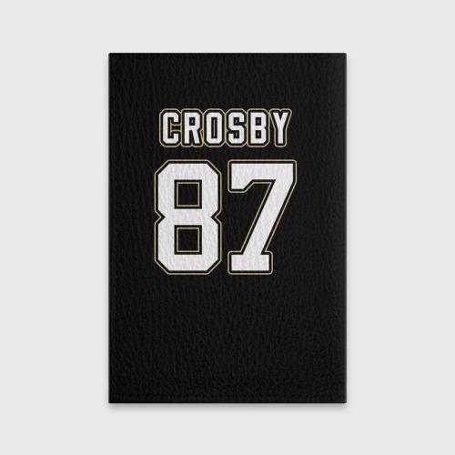 Обложка для паспорта матовая кожа  Фото 02, Pittsburgh Penguins Crosby