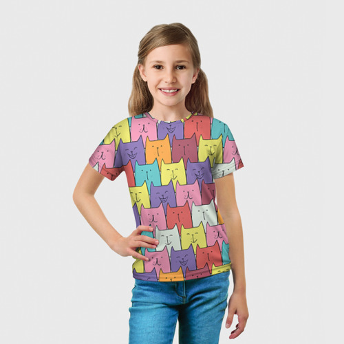 Детская футболка 3D  Фото 03, Котики