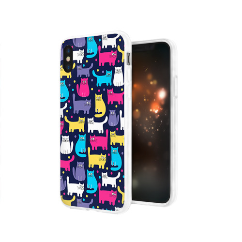 Чехол для Apple iPhone X силиконовый глянцевый  Фото 03, Котятки