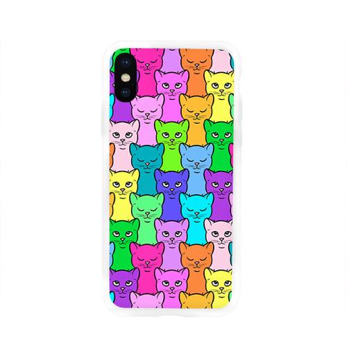 Чехол для Apple iPhone X силиконовый глянцевый  Фото 01, Котятушки