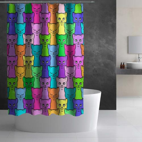 Штора 3D для ванной Котятушки Фото 01